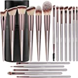 BS-MALL Makeup Brush Set 18 Pcs Premium Synthetic Foundation Powder Concealers Eye shadows Blush Makeup Brushes Champagne Gol
