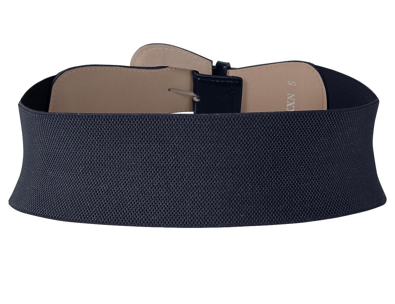 MUXXN Womens Belts Solid Color Wide Elastic Stretchy Retro Cinch Belt