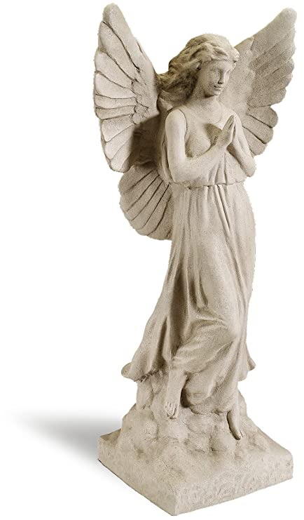 Amazon.com : Sculptural Gardens 23-Inch Guardian Angel Statuary ...