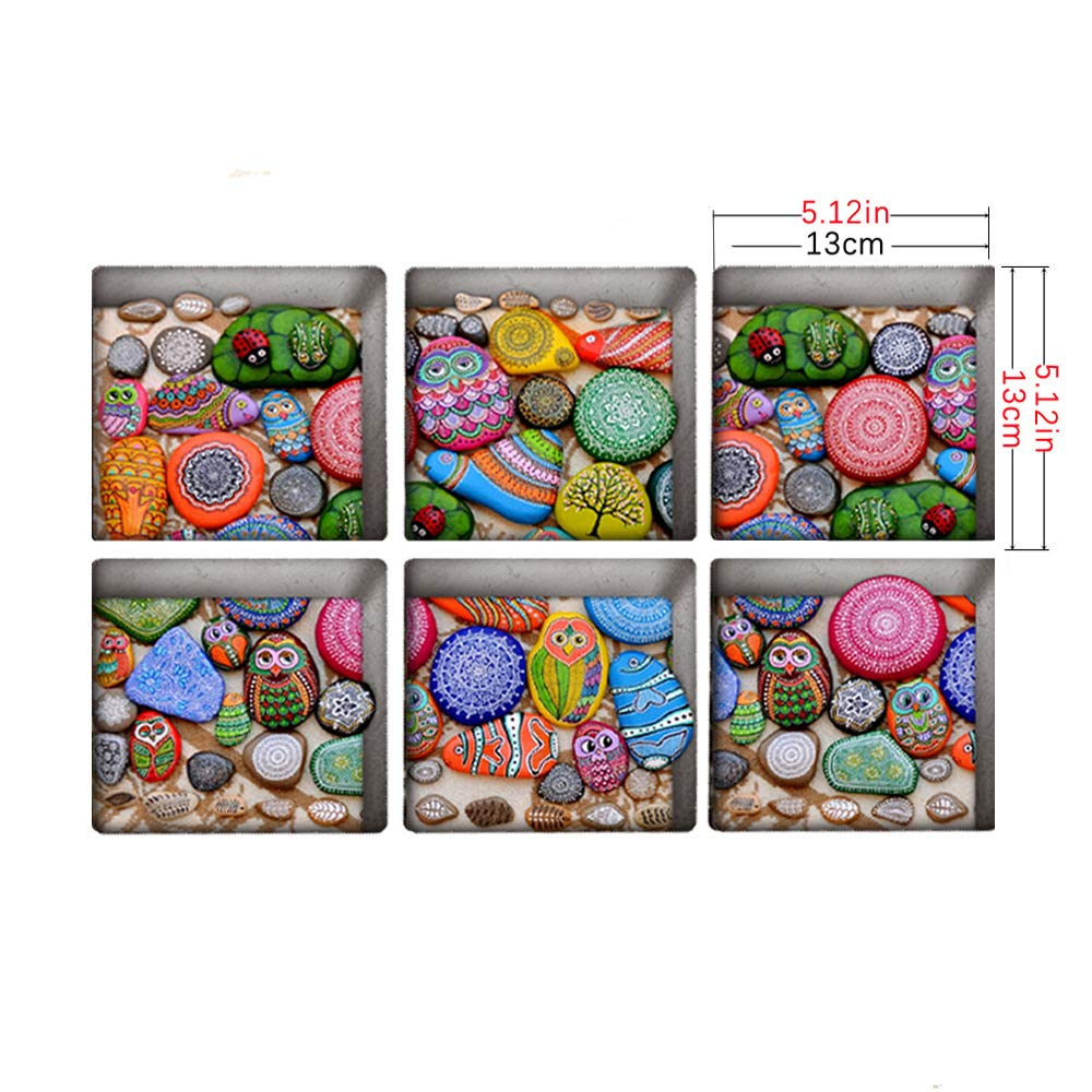 Safety Treads Add Non-Slip Traction to Tubs Showers Pools Tables,Total 6 Pieces(Shell-B04) AILEGOU 3D Non-Slip Bathtub Stickers Childrens Animal Shower Stickers