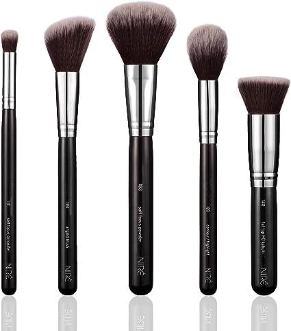 Niré Beauty Brochas de Maquillaje para el Rostro: Brochas Profesionales, Veganos, de Alta Calidad, Adecuado para Todo Tipo de Productos: Polvo, Limpio, Líquido, Mineral: Amazon.es: Belleza