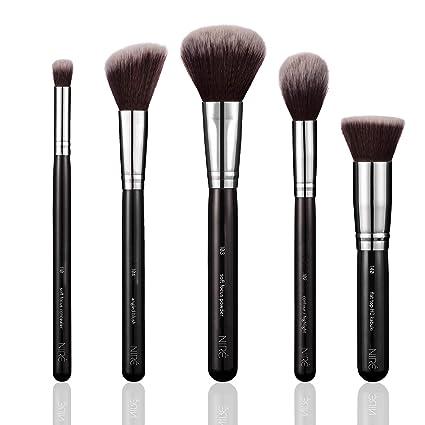 Niré Beauty Brochas de Maquillaje para el Rostro: Brochas Profesionales, Veganos, de Alta