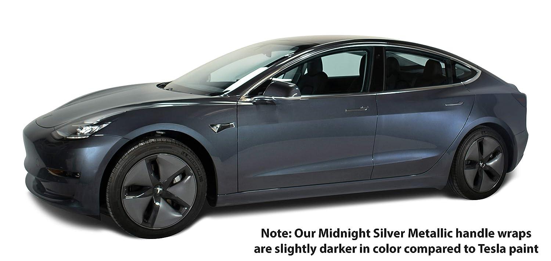 Nikola Pro Tesla Model 3 Door Handle Wrap Kit (Midnight Silver Metallic)