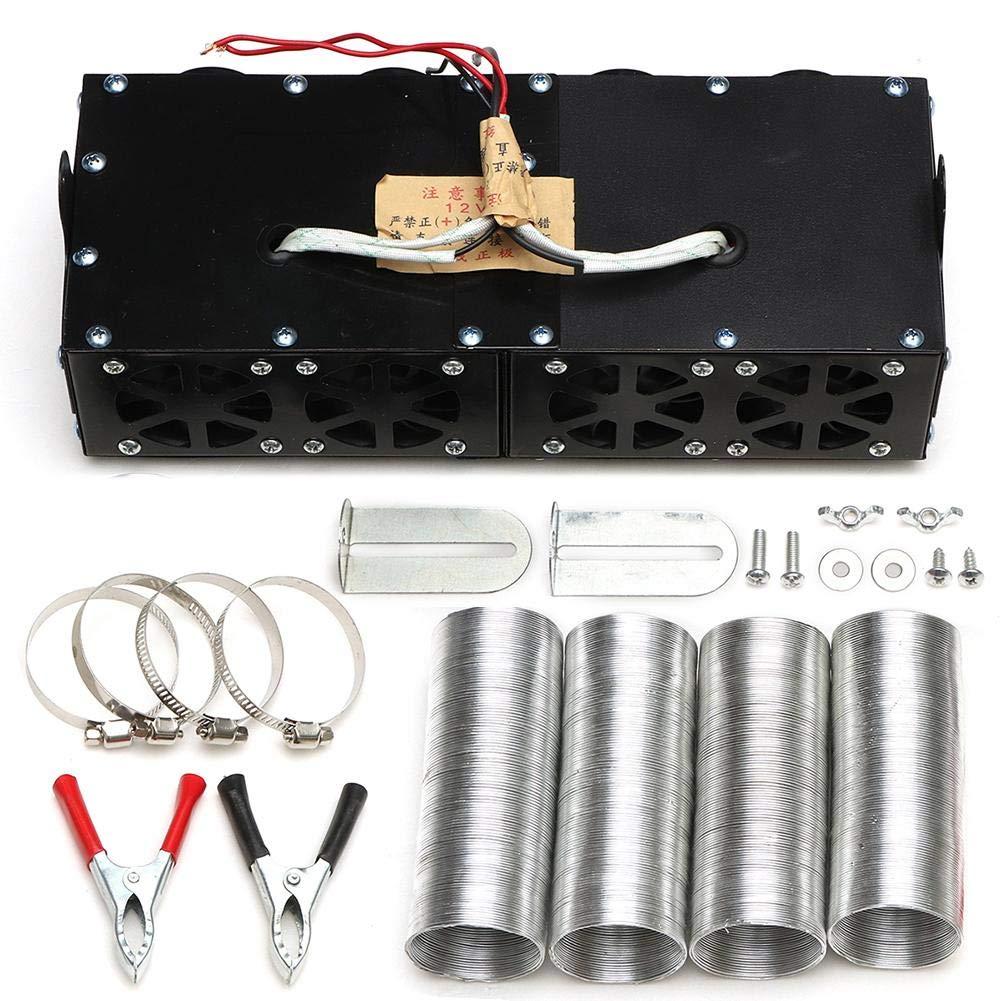 heling896 12V Set di termoventilatori per Auto con Quattro ventole, Universal DC 12V 800W 4 Port Set di sbrinatori per autoprotettori riscaldatore Professionale