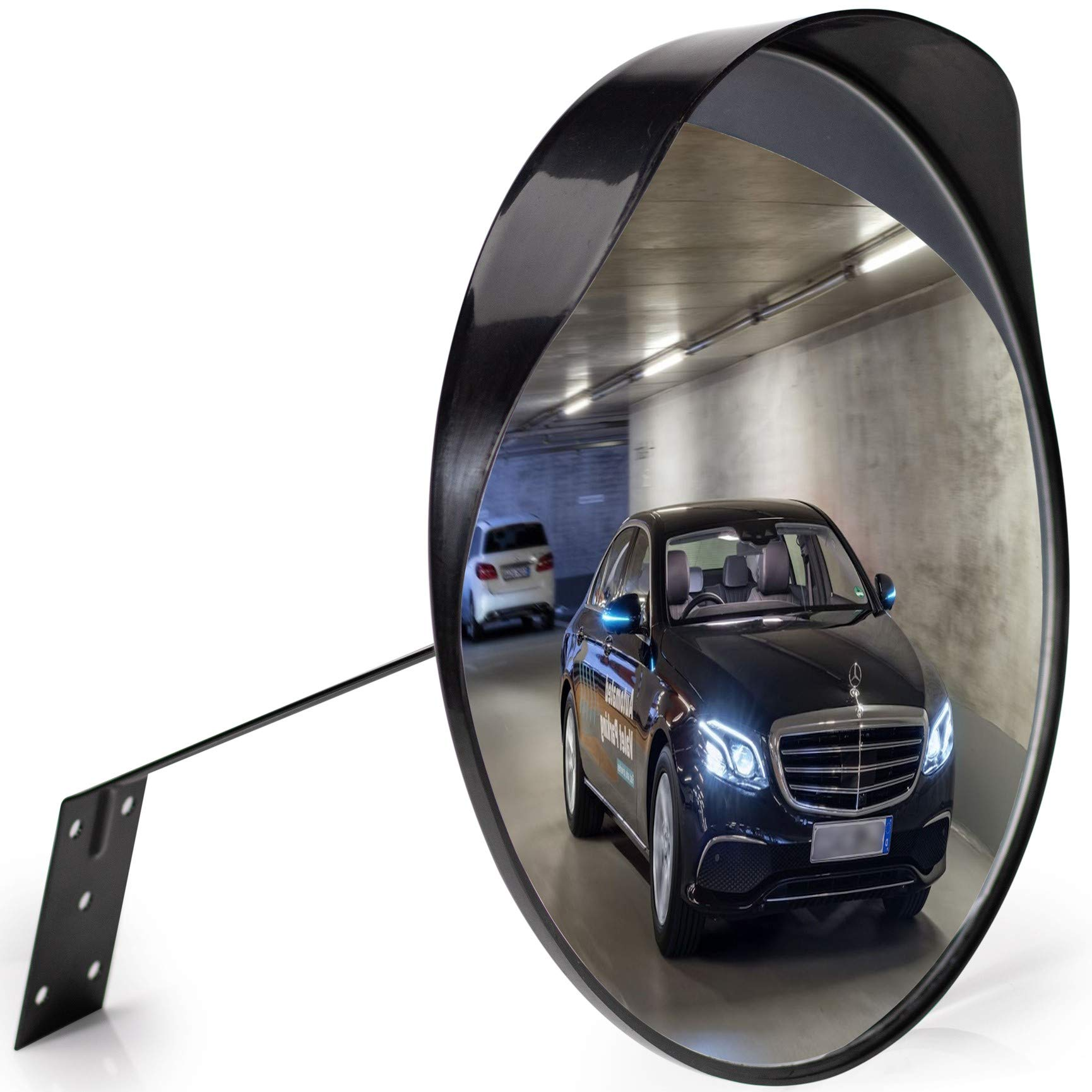 Premium Convex Mirror - Adjustable 12'' Curved Security Mirror for Indoor & Outdoor use - Extends your field of view to increase Safety
