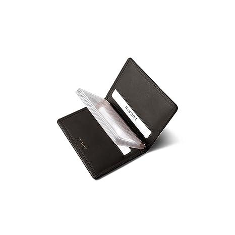 Lucrin - Tarjetero fino para tarjetas de crédito - Marrón - Cuero ...