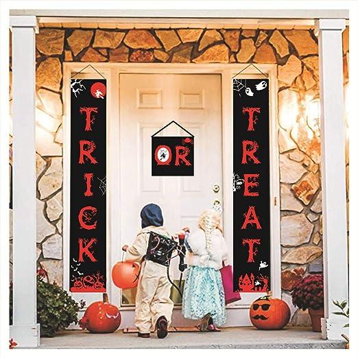 Cortina de Puerta Banner de Halloween Truco o Trato de ...
