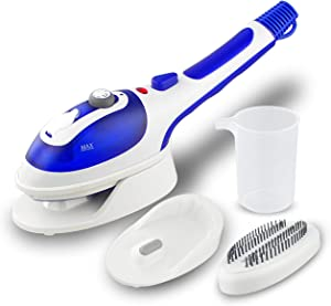 CHWIN Steamer for Clothes,Portable Handheld Electric Fabric Iron Steamers,Laundry Clothes Garment Steamer for Home/Travel,Dryer Hanging Ironing Machine with Useful Brush,40 Second Fast Heat-up,Blue