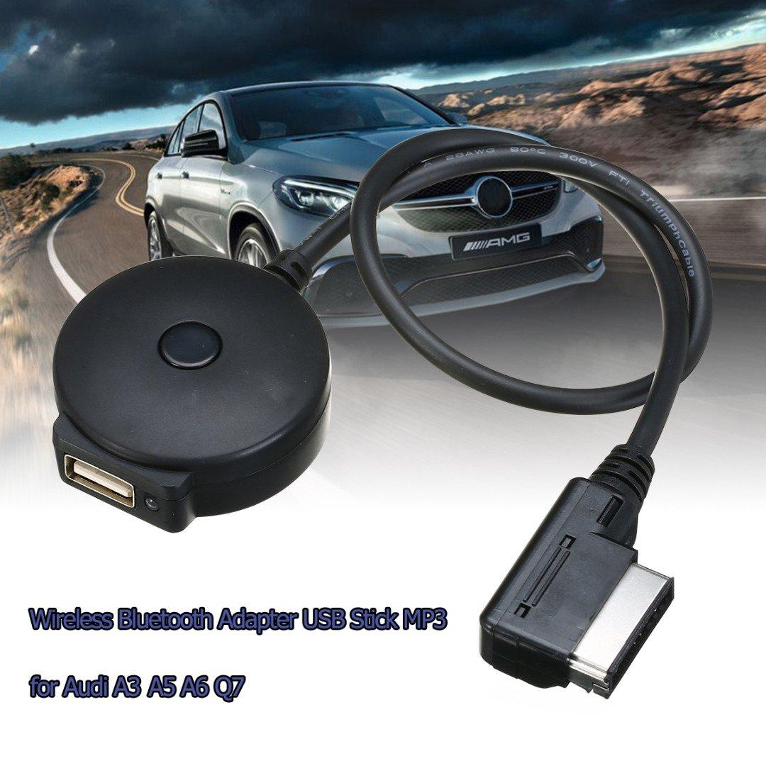 SODIAL Haute Qualite sans Fil Bluetooth 4.0 Audio Cable Adaptateur Musicale Interface USB Audi A3 A4 A5 A6 Q5 Q7 AMI MMI MD