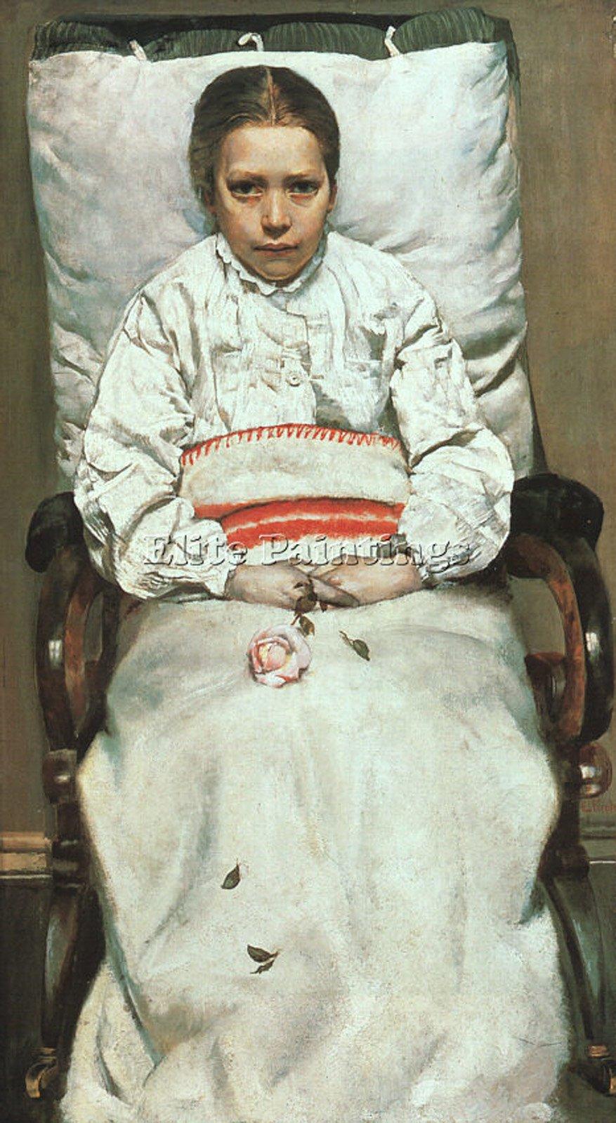 KROHG CHRISTIAN NORWEIGAN 1852 1925 ARTIST PAINTING OIL CANVAS REPRO ART DECO 24x12inch