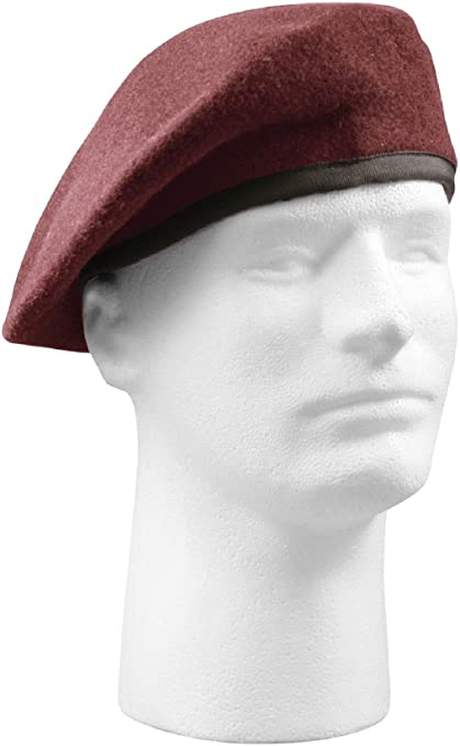c24c1b38ba121 Amazon.com   Military Wool Beret - Inspection Ready Pre-Shaved Badge  Tactical US Army JROTC   Sports   Outdoors