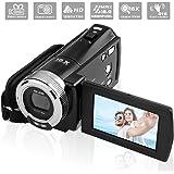 GordVE Camcorder Digitalkamera, Full HD Video Kamera 1280 x 720p VideoKamera 16X Digital Zoom  mit  2,7 '' LCD