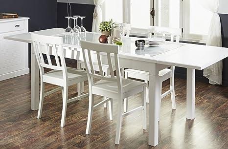 Juego de muebles de salón comedor Vicco blanco 160 (200/240 ...