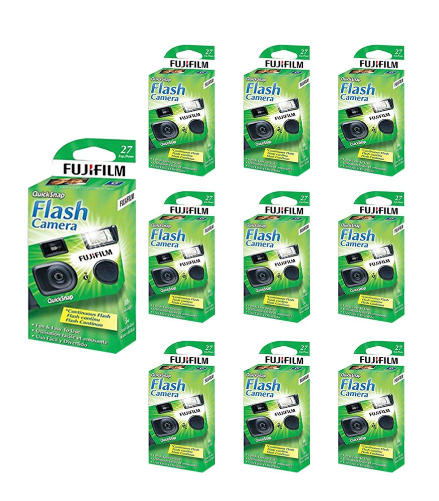 10x Fuji Quicksnap Flash 400 Disposable 35mm Camera 27 Exp 09/2020 FRESH by FujiFilm