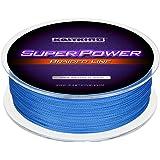 KastKing SuperPower Geflochtene Angelschnur 100% PE Dyneema 4-8 Fasern Runde Geflochtene Schnur - Super Tragkraft Bis zu 150 Pfund - Abriebfest – Keine Dehnung & Kleiner