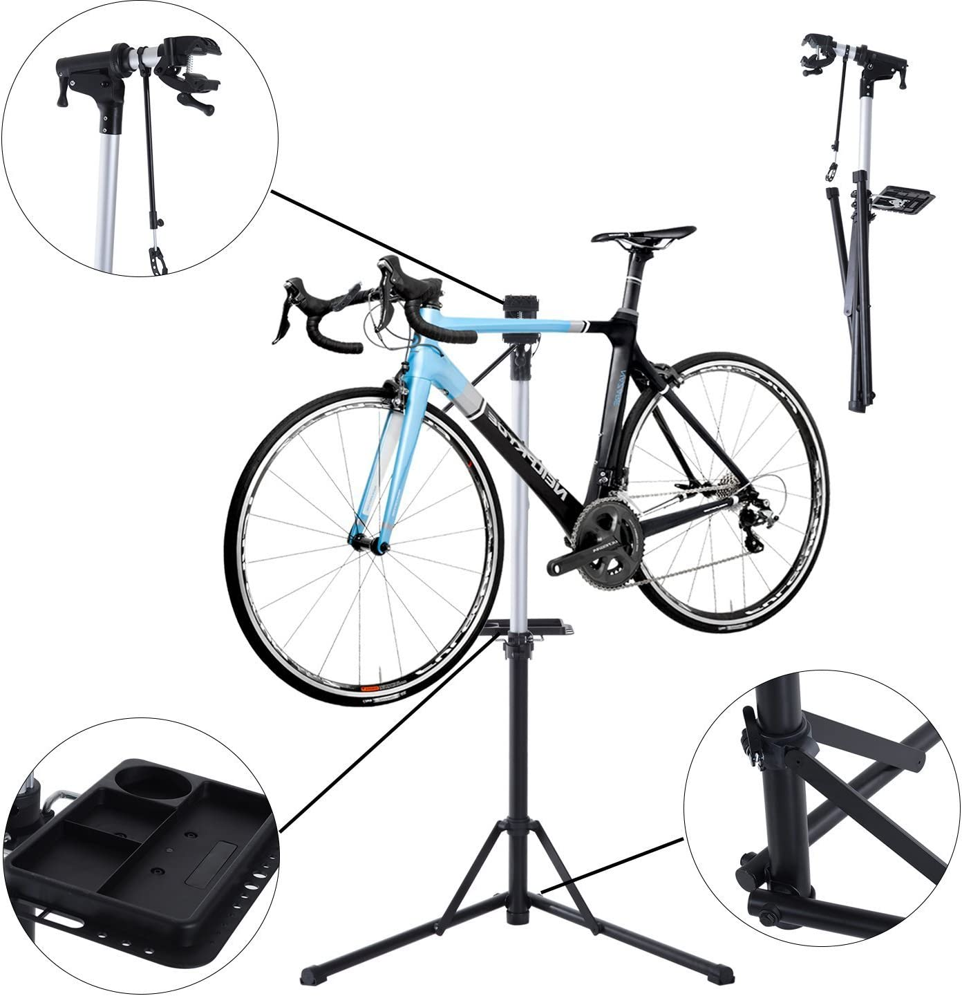 HOMCOM Caballete para Bicicleta Reparación de Ciclismo Soporte de ...