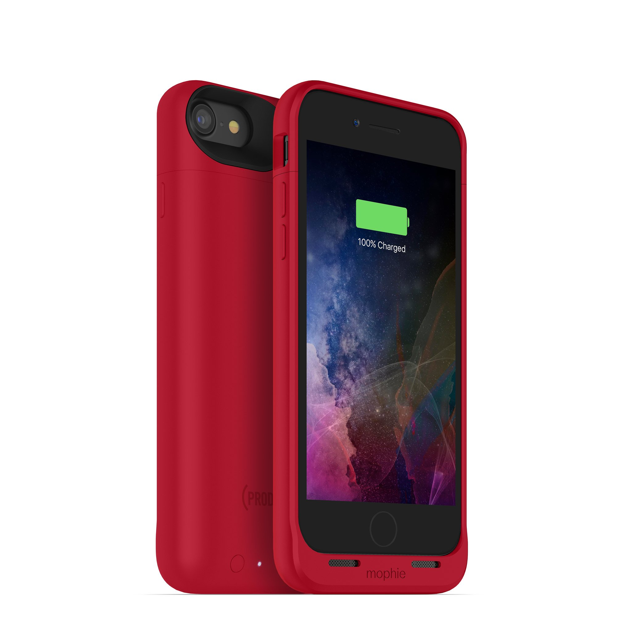 mophie juice pack wireless  - Charge Force Wireless Power - Wireless Charging Protective Battery Pack Case for Apple iPhone 8 and iPhone 7 - (PRODUCT)RED
