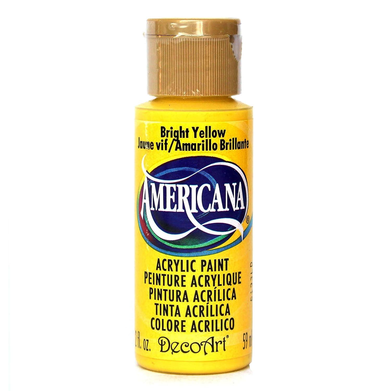 DecoArt Americana acrilico multiuso Vernice, giallo luminoso DA227-3