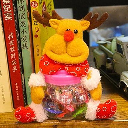1Pieza patrón niños plástico botella de Navidad Candy Papá Noel Muñeco de nieve Elk oso lindo