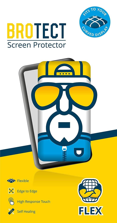 BROTECT. 2X Flex Full-Cover Protector de Pantalla para Lifebee Smartwatch Q88, Protección de Pantalla Completa, Super Flexible y Fuerte