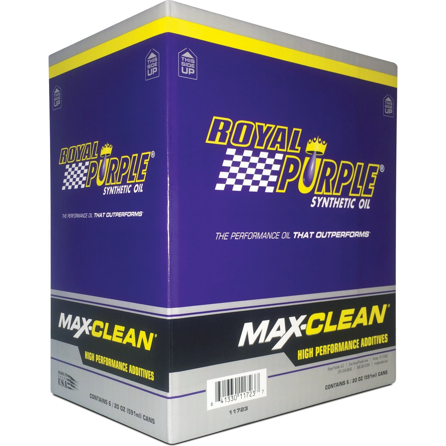 Royal Purple 11723-6PK Max-Clean Fuel System Cleaner and Stabilizer - 20 oz. (Case of 6) by Royal Purple