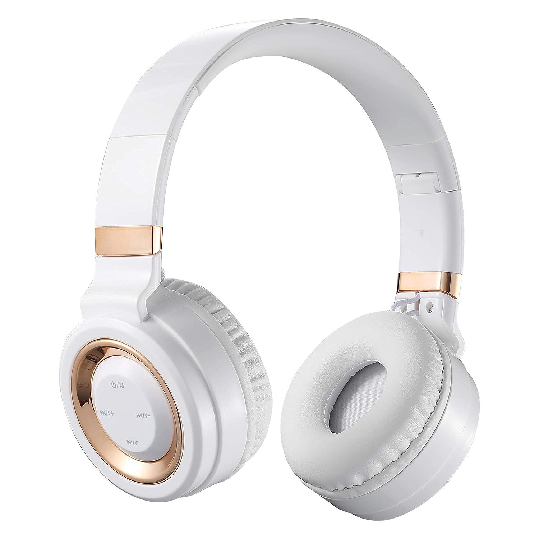 Volkano Lunar Series Bluetooth Wireless Folding Headphones - White