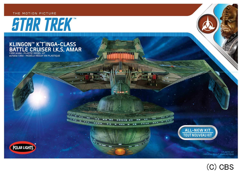 Round 2 Klingon Ktinga I.K.S AMAR 1:350 Scale Model Kit