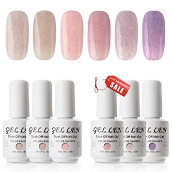 Amazon.com: Gellen Kit portátil de Gel Nail Starter – 6 ...