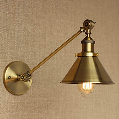 BMEI E27 Glass Chrome Wall Light Lamp Retro Industrial Vintage ...