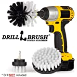 Drillbrush 3 Piece Drill Brush Cleaning Tool Attachment Kit for Scrubbing/Cleaning Tile, Grout, Shower, Bathtub, and All Other General Purpose Scrubbing by () All Purpose Automotive Soft-White