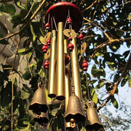 Wind Chimes Home 4 Tubes 5 Bells Copper Yard Garden Home Decor  Living Gift Sale