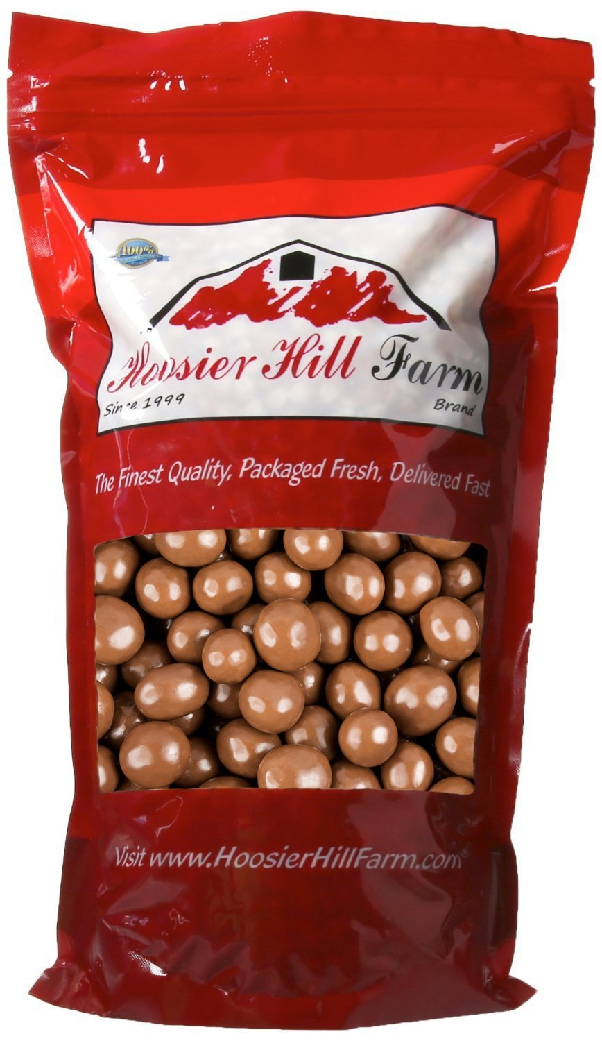 Gourmet Milk Chocolate covered Espresso Beans, Hoosier Hill Farm (2 lb Bag)