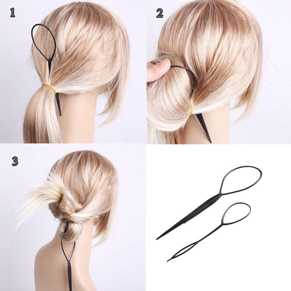 Yesurprise 2 Stk Topsy Tail Haar Dreher Styler Frisurenhilfe Hair