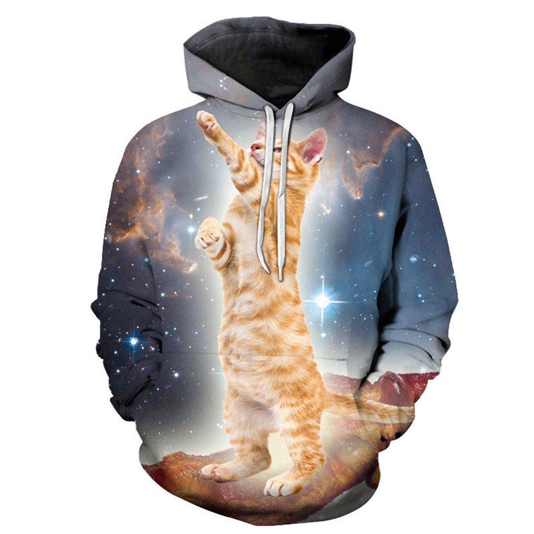 Otoño e Invierno Sudaderas MMA Star Space Cat Hoodie Impresión 3D ...