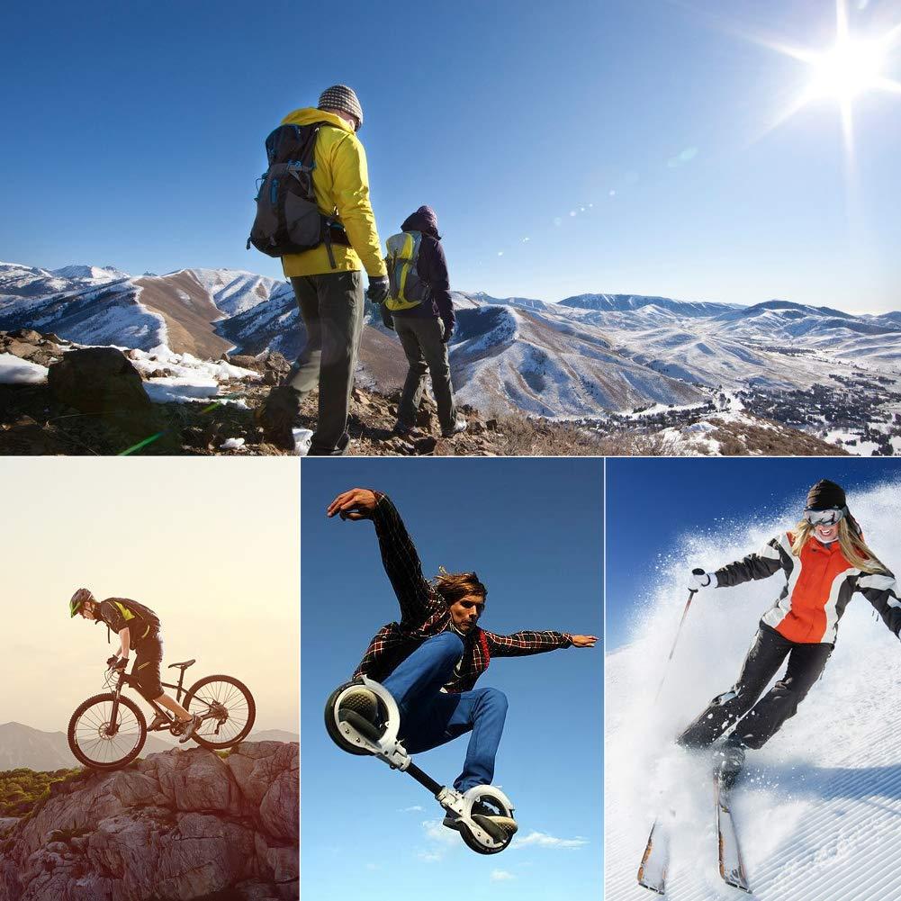 Ski Scarf for Men, NEUYILIT Outdoors Athletic Lightweight Neck Gaiter for Cycling, Running 1 Pack Black by NEUYILIT (Image #5)
