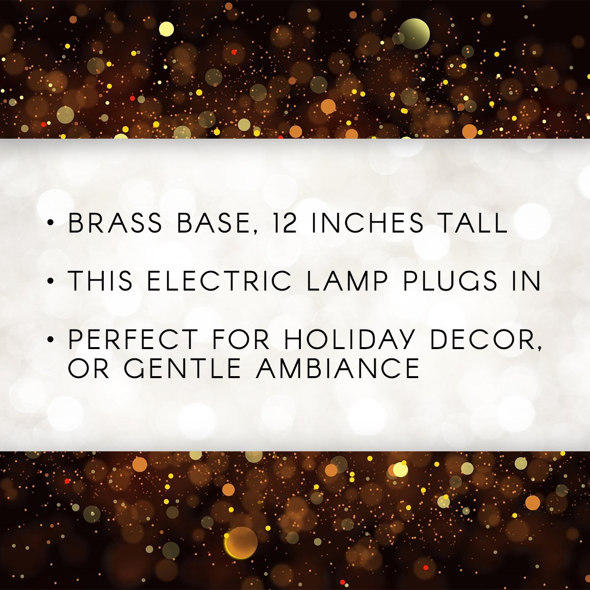 """Plug-in Lamp with On//Off Switch Perfect for Holiday D/écor or Gentle Home Light Darice 12/"""" Electric Candle Lamp 1 Lamp Add a Shade to Match Your Room Brass-Plated Base"""
