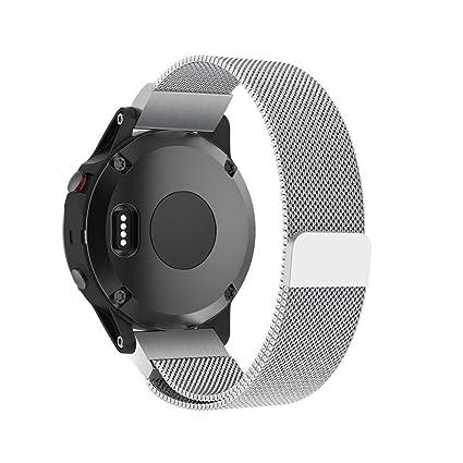 Correa de Reloj Banda de Inteligente de Acero Inoxidable de Bucle magnético milanés para Garmin Approach