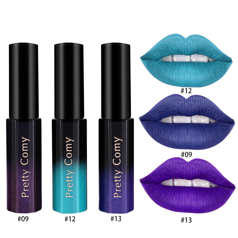 3 colori Glitter Lipstick impermeabile Shimmer magico regalo Lipgloss per Lady da Pretty Comy