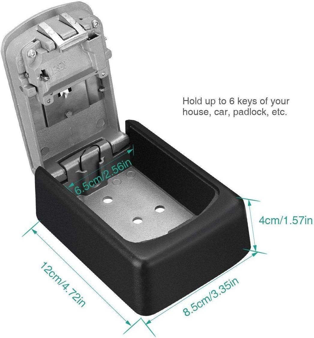Color : Black HaiQianXin Caja de Bloqueo de Teclas de 4 d/ígitos Combinaci/ón de Llaves Caja de Almacenamiento de Caja Segura de Llaves montada en la Pared Organizador