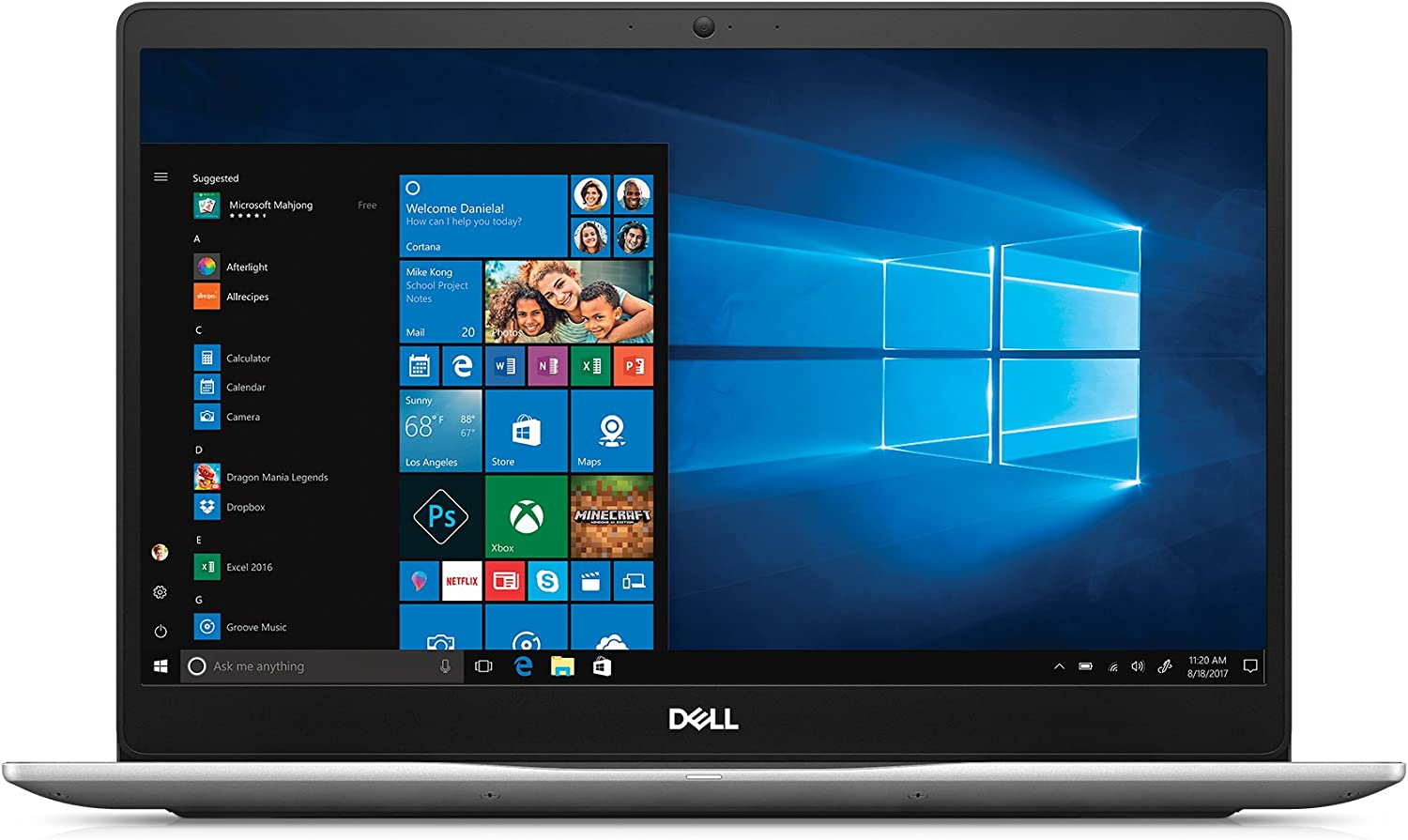 "Dell Inspiron 15 7570 Laptop - 15.6"" LED-Backlit Display - 8th Gen Intel Core i5 - 8GB Memory - 1TB Hard Drive with 8GB cache- 4GB Nvidia Geforce 940MX"