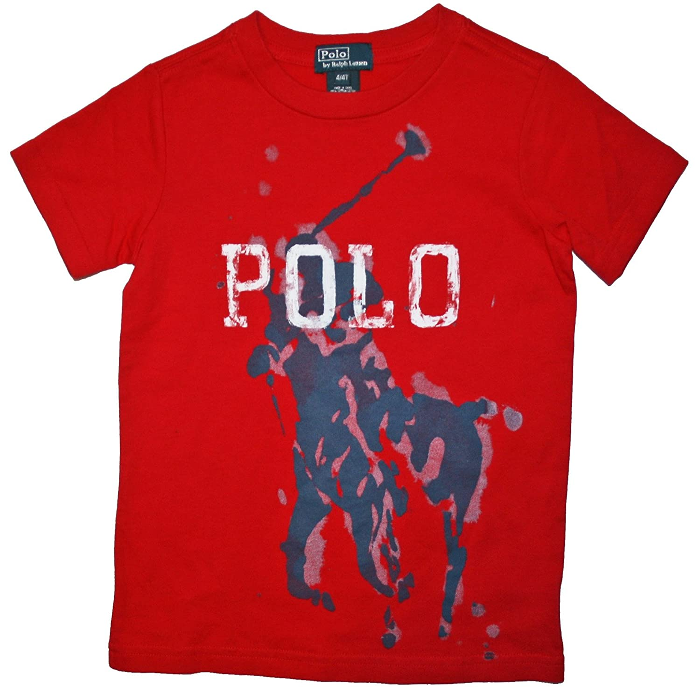 Ralph Lauren Niños Camiseta de Big Pony Polo Jinete Art Print Rojo ...