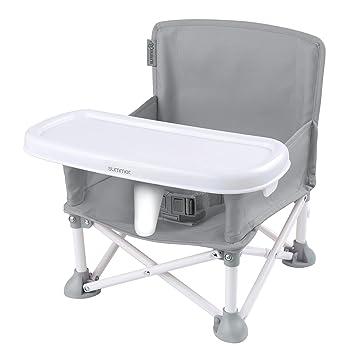 Summer Infant Pop N Sit Folding Booster Detachable Dishwasher Safe Tray Green