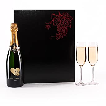 Herz Heim Goldene Hochzeit Champagnerset Mit 2 Sektgläser