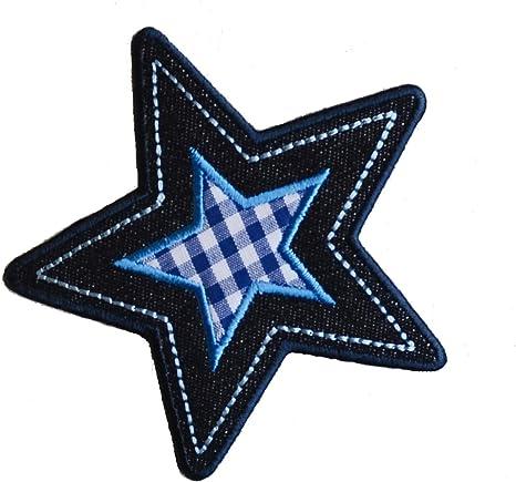 2 Parche de bordado o planchado Estrella 10X9Cm Vichy Estrella Azul 9X9Cm termoadhesivos bordados aplique para ropa con diseño de TrickyBoo Zurich Suiza por España: Amazon.es: Bebé