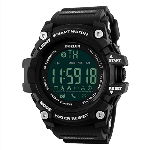 Smart relojes niños deportes Digital reloj con Bluetooth remoto cámara calorías podómetro recordatorio de llamadas Cronógrafo Resistente al agua Smart ...