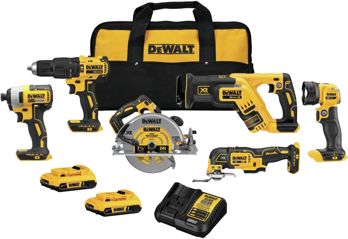 DEWALT DCK677D2 20V MAX Brushless 6-Tool Kit