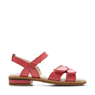 15fd5dfb23f Clarks Darcy Charm Leather Sandals in Coral Patent  Amazon.co.uk  Shoes    Bags