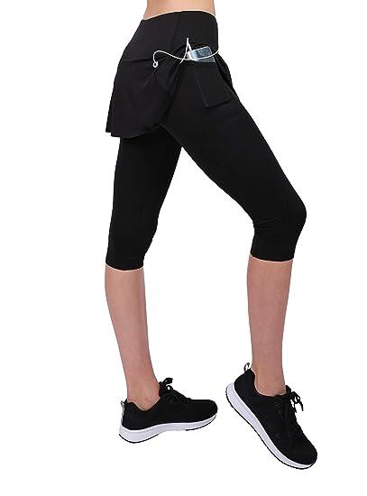 Honofash Falda Pantalón Tenis Mujer Deporte Running Ropa Padel Leggins Deportivas SML XL Golf