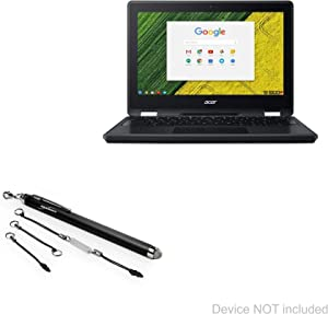 Acer Chromebook Spin 11 (R751T) Stylus Pen, BoxWave [EverTouch Capacitive Stylus] Fiber Tip Capacitive Stylus Pen for Acer Chromebook Spin 11 (R751T) - Jet Black
