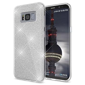 NALIA Purpurina Funda Compatible con Samsung Galaxy S8 Plus ...